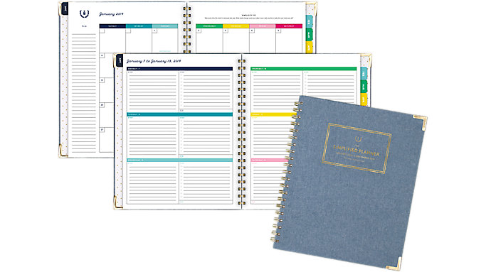 Emily Ley Weekly-Monthly Large Hardcover Planner  (EL102-905)