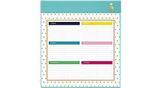 Simplified Weekly Undated Planning Pad (Item # EL200-703A)