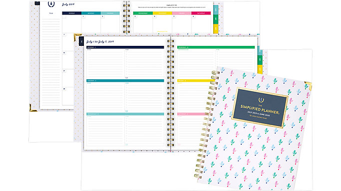 Emily Ley Simplified Academic Weekly-Monthly Hardcover Large Planner  (EL200-905A)