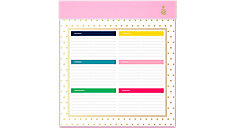 Simplified Happy Stripe Weekly Planning Pad (Item # EL300-703)