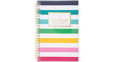 Simplified Happy Stripe Customizable Weekly-Monthly Planner (Item # EL301-201)