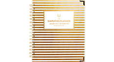Simplified Gold Stripe Weekly-Monthly Hardcover Planner (Item # EL301-805)