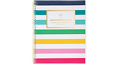 Simplified Happy Stripe Customizable Weekly-Monthly Planner (Item # EL301-901)