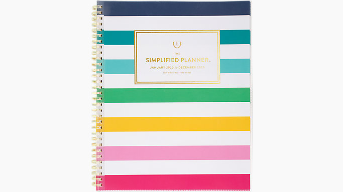 picture about Emily Ley Planner named Emily Ley Simplified Content Stripe Customizable Weekly-Month-to-month Planner