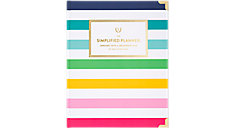 Simplified Happy Stripe Weekly-Monthly Hardcover Planner (Item # EL301-903)