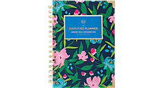 Simplified Navy Floral Weekly-Monthly Hardcover Planner (Item # EL302-200)