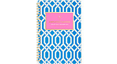 Simplified Blue Trellis Weekly-Monthly Planner (Item # EL305-200)