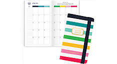Simplified for AT-A-GLANCE Happy Stripe Academic 2-Year Monthly Planner (Item # EL400-021A)