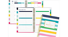 Simplified for AT-A-GLANCE Happy Stripe Academic Customizable Weekly-Monthly Planner (Item # EL400-201A)