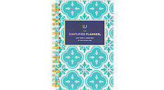 Simplified for AT-A-GLANCE Colorful Quatrefoil Academic Weekly-Monthly Planner (Item # EL400-300A)