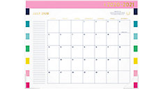 Simplified for AT-A-GLANCE Happy Stripe Academic Monthly Desk Pad Calendar (Item # EL400-704A)