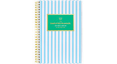 Simplified for AT-A-GLANCE Blue Stripe Academic Customizable Weekly-Monthly Planner (Item # EL401-201A)