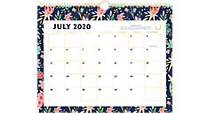 Simplified for AT-A-GLANCE Gold Foil Floral Academic Monthly Wall Calendar (Item # EL401-707A)