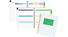 Simplified for AT-A-GLANCE Blue Stripe Academic Weekly-Monthly Planner (Item # EL401-805A)