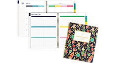 Simplified for AT-A-GLANCE Gold Foil Floral Academic Weekly-Monthly Planner (Item # EL401-905A)