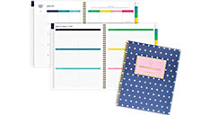 Simplified for AT-A-GLANCE Navy Dot Academic Weekly-Monthly Planner (Item # EL402-905A)