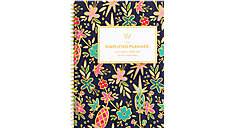 Simplified for AT-A-GLANCE Gold Foil Floral Academic Weekly-Monthly Planner (Item # EL406-200A)