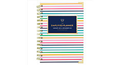 Simplified for AT-A-GLANCE Thin Happy Stripe Weekly-Monthly Planner Hardcover (Item # EL50-200)