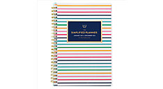 Simplified for AT-A-GLANCE Thin Happy Stripe Customizable Weekly-Monthly Planner (Item # EL50-201)