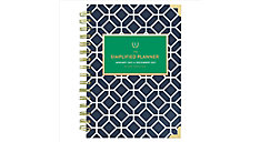 Simplified for AT-A-GLANCE Navy Tile Weekly-Monthly Planner, Hardcover (Item # EL58-200)