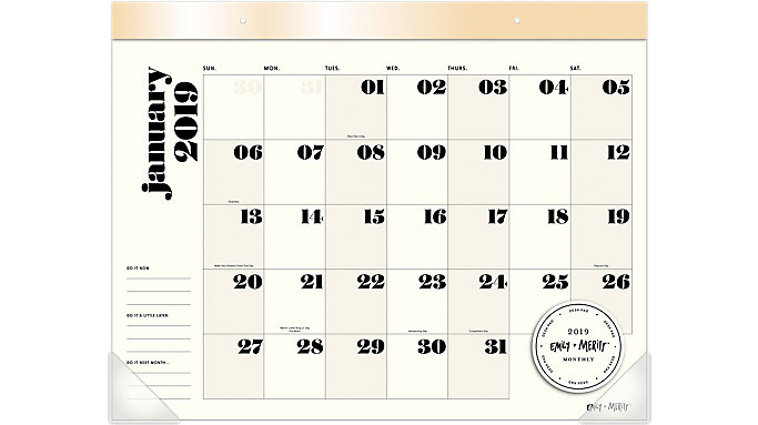 Emily + Meritt The Large Desk Pad Calendar  (EM101-704)