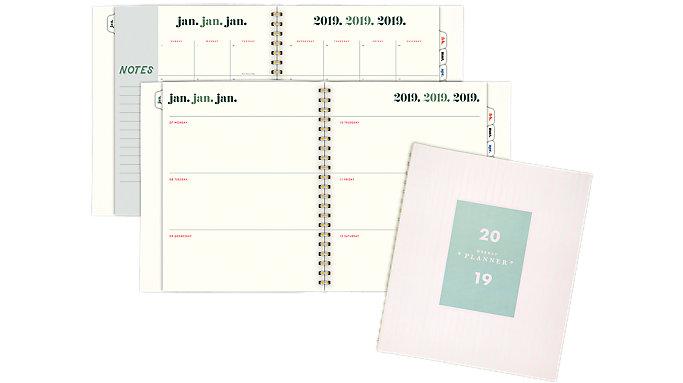 Emily + Meritt The Brushstroke Stripe Weekly-Monthly Large Planner  (EM101-905)