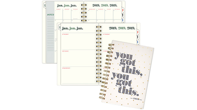 Emily + Meritt The Frosted Scattered Star Weekly-Monthly Small Planner  (EM102-200)