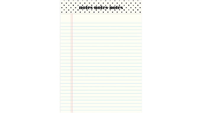 Emily + Meritt The Classic Ruled Notepad  (EM102-400)