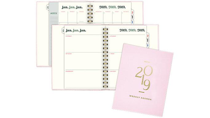 Emily + Meritt The Foiled Agenda Weekly-Monthly Planner  (EM103-805)