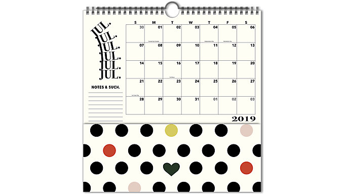 Emily + Meritt  Academic The Printed Pocket Wall Calendar  (EM200-714A)