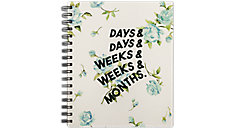 Weekly-Monthly The Vintage Floral Planner (Item # EM201-805A)