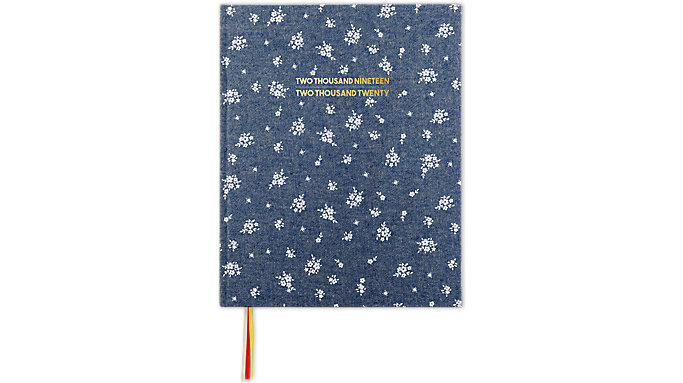 Emily + Meritt Weekly-Monthly The Chambray Ditsy Floral Perfect Bound Planner  (EM201-903A)