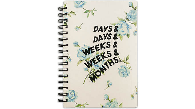 Emily + Meritt Weekly-Monthly The Vintage Floral Planner  (EM202-200A)