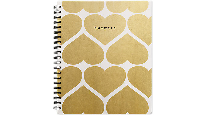 Emily + Meritt  Weekly-Monthly The Graphic Foiled Hearts Planner  (EM206-905A)