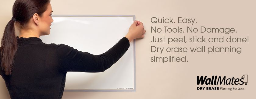 WallMates® Dry Erase Planning Surfaces