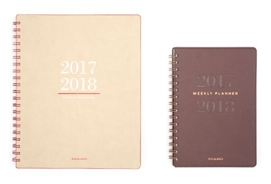 AT-A-GLANCE Collection Brown and Tan Planners