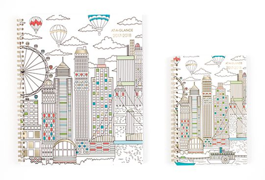 Paint the Town Outlined Cityscape Planner by AT-A-GLANCE