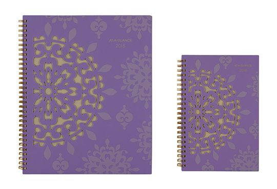 Vienna Detailed Purple Planner by AT-A-GLANCE