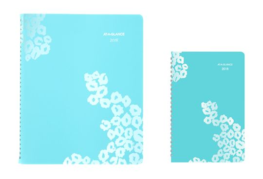 Wild Washes Teal Animal Prints Planner by AT-A-GLANCE