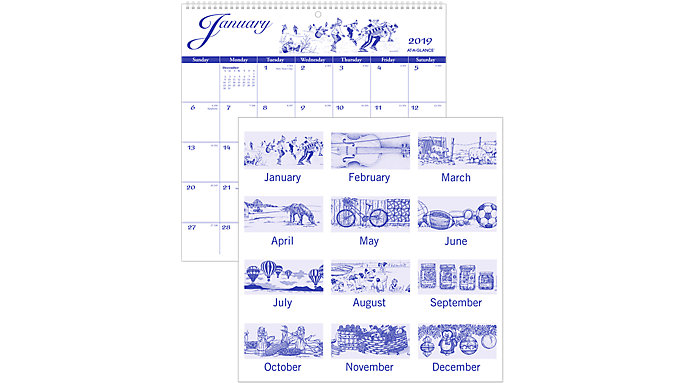 AT-A-GLANCE Illustrators Wall Calendar  (G1000)