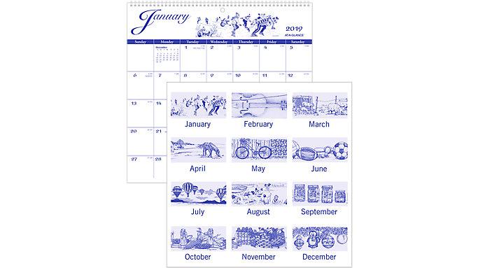 AT-A-GLANCE Illustrators Wall Calendar  (G1000)