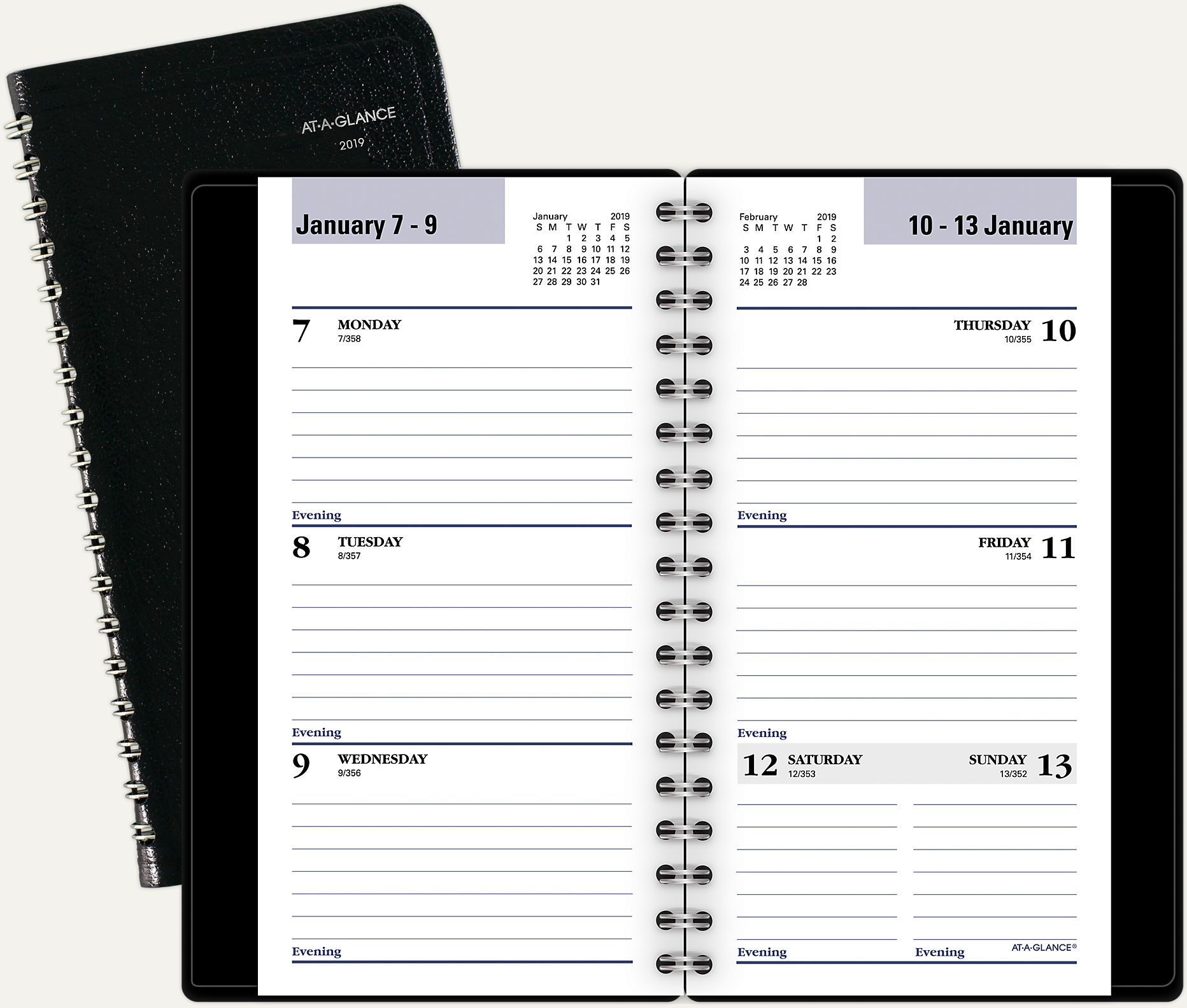 December 21 2019 Day Minder Printable Daily Calendar DayMinder Weekly Pocket Planner | G232 | AT A GLANCE