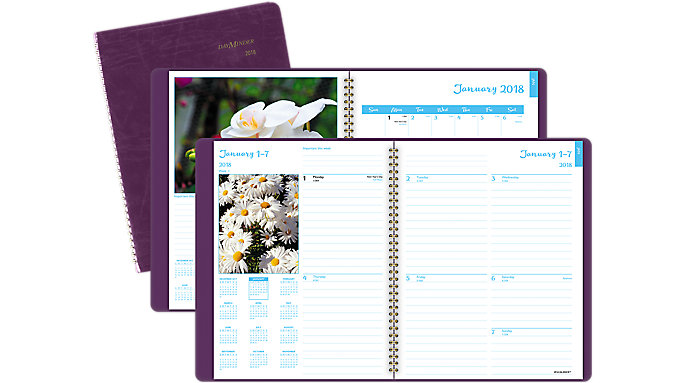 AT-A-GLANCE DayMinder Fashion Floral Weekly-Monthly Planner  (G701)