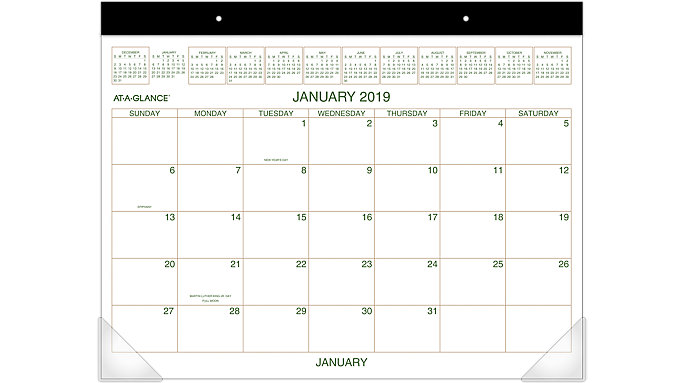 AT-A-GLANCE Two-Color Monthly Desk Pad  (GG2500)