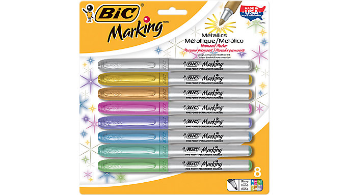 BIC Mark-it Permanent Marker Metallic Colors  (GMPMP81)