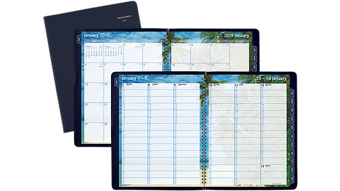 AT-A-GLANCE Tropical Escape Weekly-Monthly Appointment Book  (GTE52)