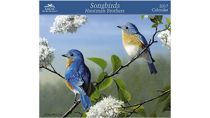 Amcal 2017 Hautman Brothers - Songbirds Wall Calendar - Decorative Calendars 900447