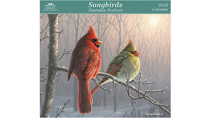 AMCAL Hautman Brothers Songbirds Wall Calendar  (HBCW04)