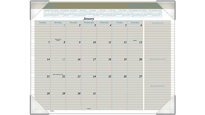 AT-A-GLANCE Executive Monthly Desk Pad  (HT1500)