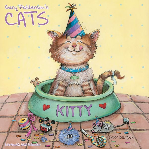 Mead Gary Pattersons Cats Wall Calendar - Decorative Calendars HTH1022818